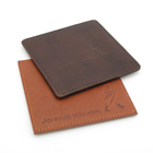 Branded leather coasters