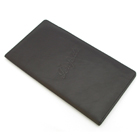 Embossed leather bill holder